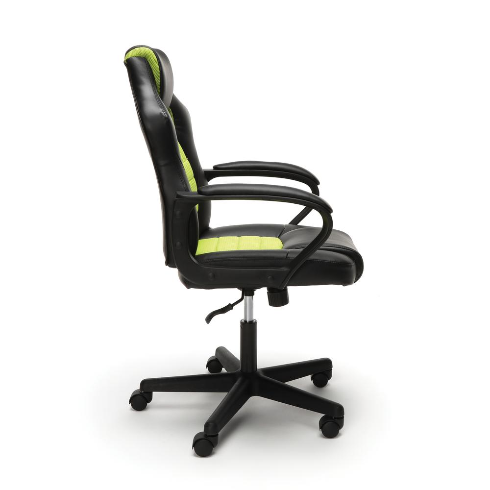 Essentials by OFM ESS-3083 Racing Style Gaming Chair, Green. Picture 4