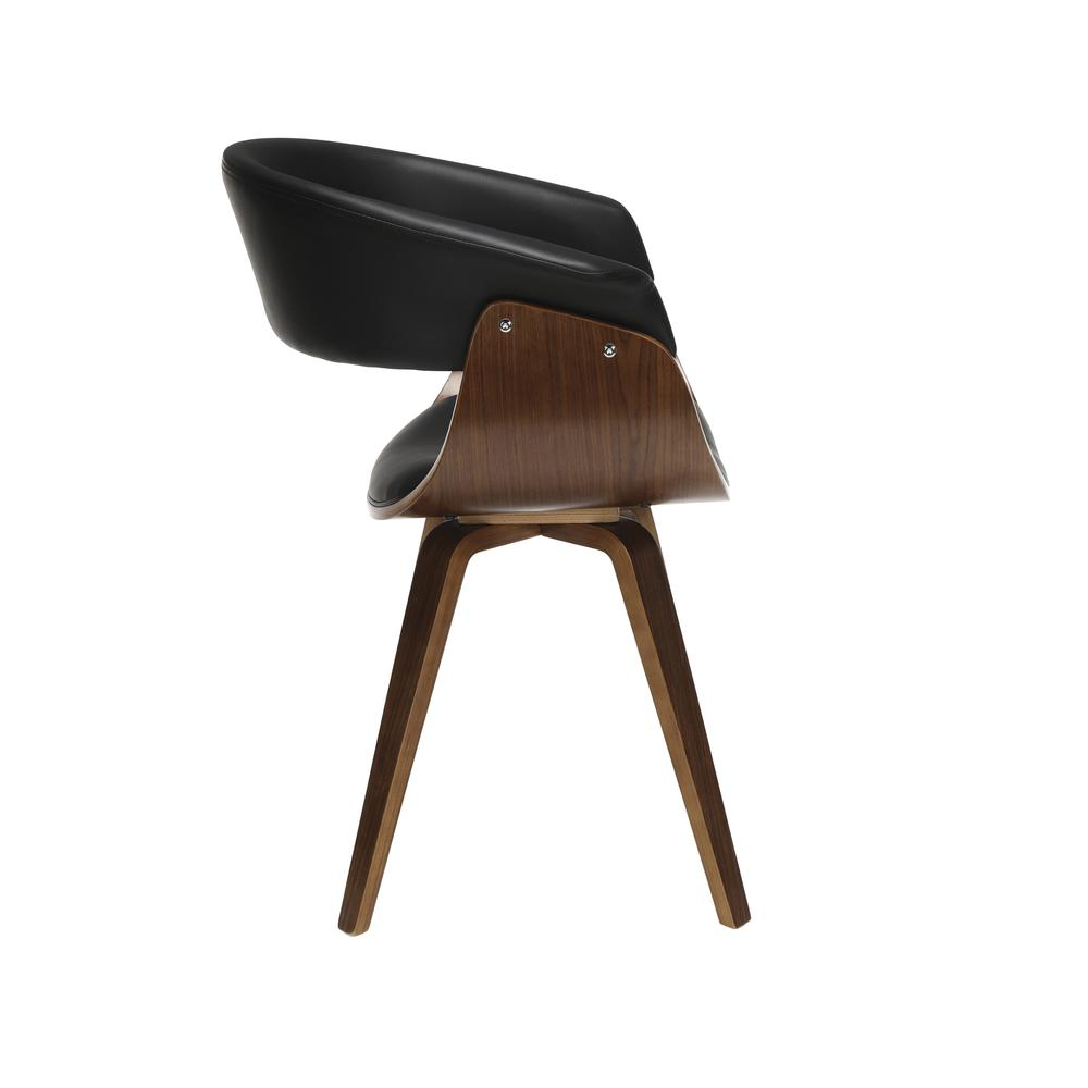 The OFM 161 Collection Mid Century Modern Bentwood Frame Dining Chair with Flare Arms, Vinyl Back and Seat Cushion, in Black, bring a touch of mid century to any room or dining set. These dining chair. Picture 4