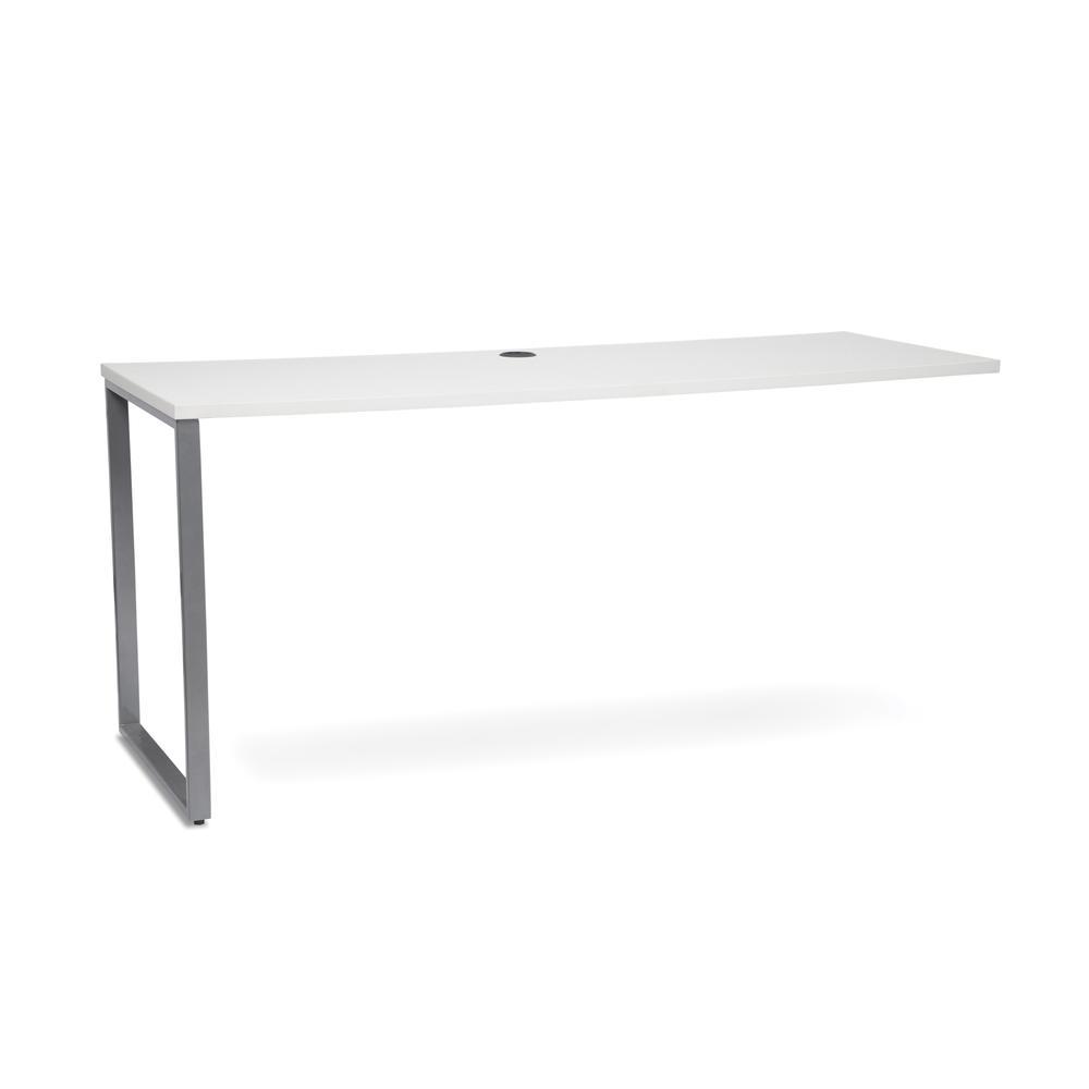 OFM Fulcrum Series 66x24 Credenza Desk, Desk Shell for Office, White (CL-C6624-WHT). Picture 1