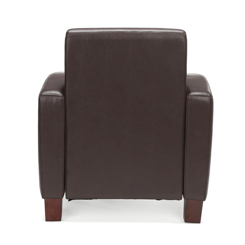 Essentials by OFM ESS-9050 Traditional Reception Arm Chair, Brown. Picture 3