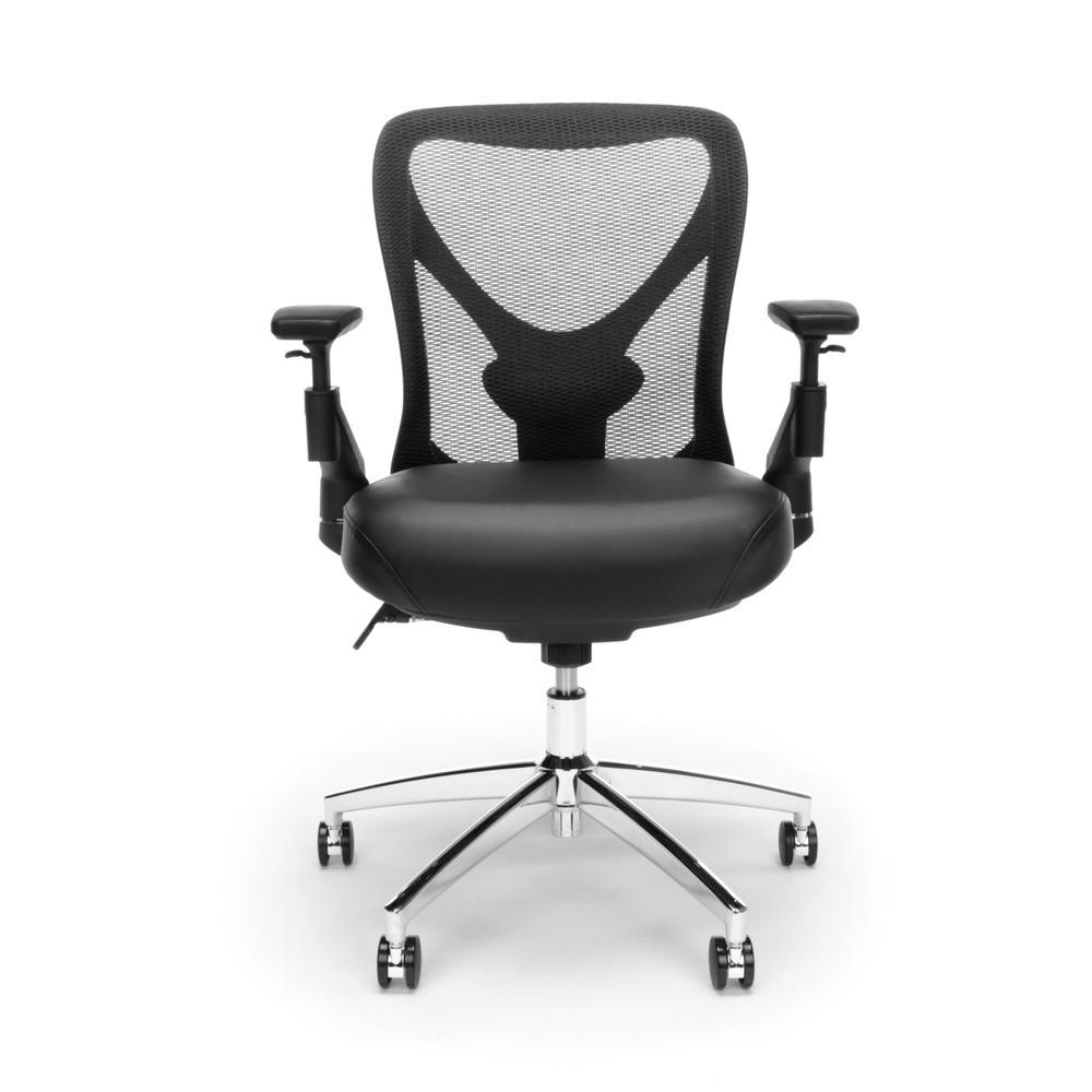 OFM Stratus Series Model 257-VAM 24-Hour Big & Tall High-Back Vinyl Mesh Chair,  Black. Picture 2
