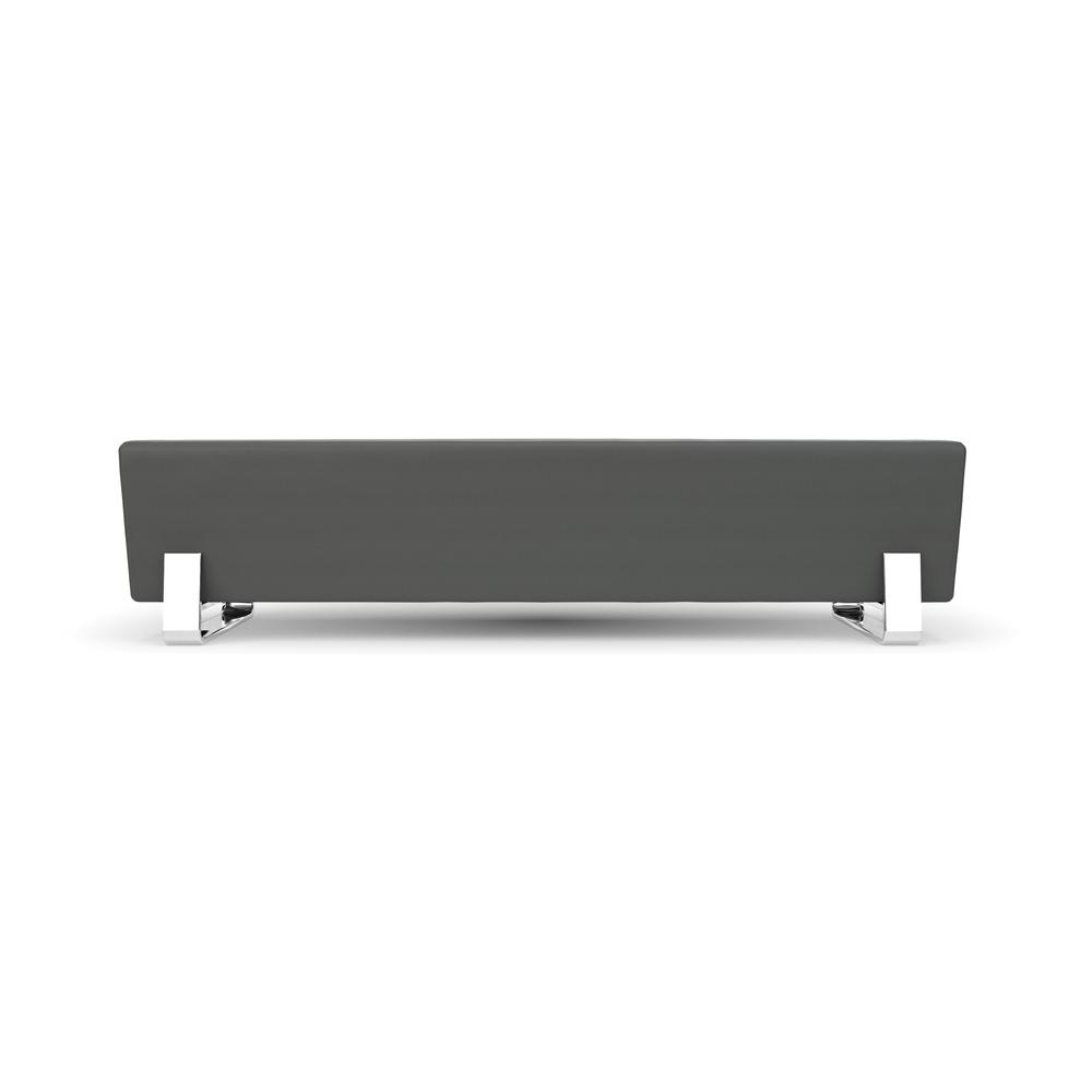 OFM Triple Seating Bench, Textured Vinyl with Chrome Base, in Slate. Picture 2