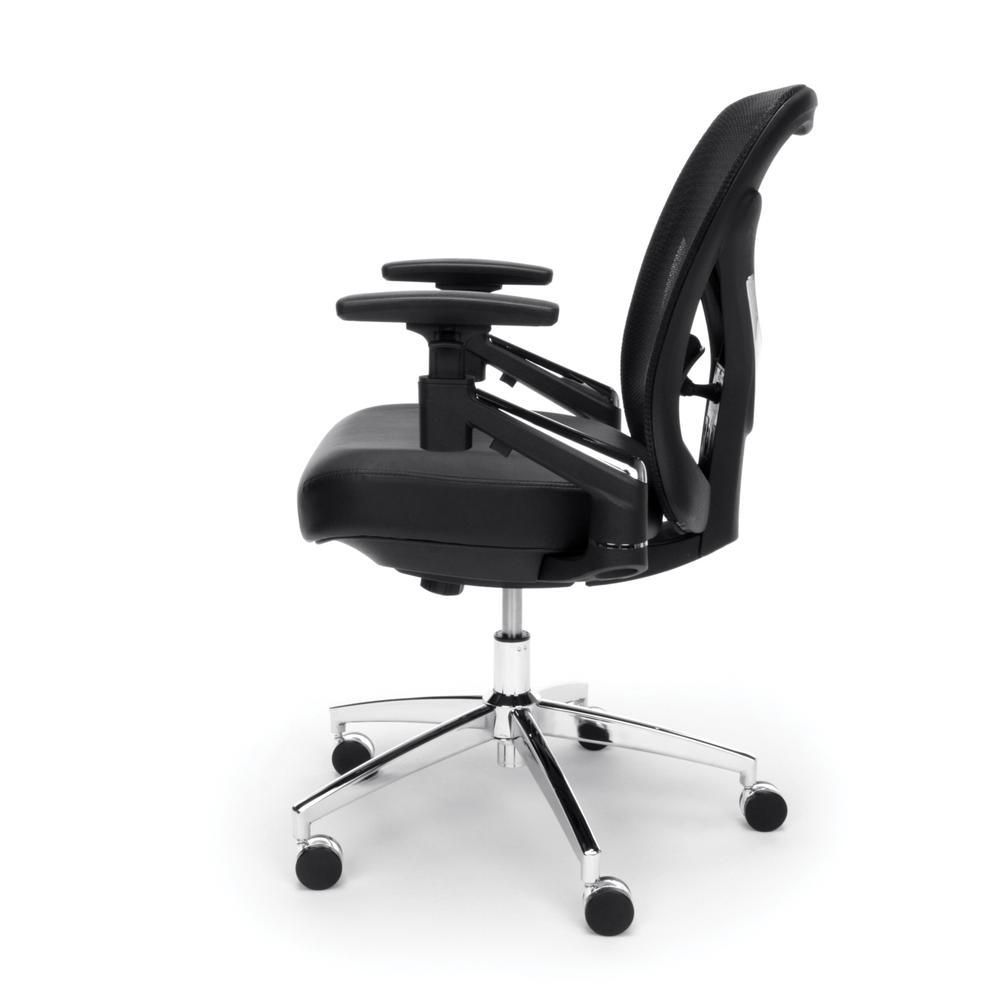OFM Stratus Series Model 257-VAM 24-Hour Big & Tall High-Back Vinyl Mesh Chair,  Black. Picture 5