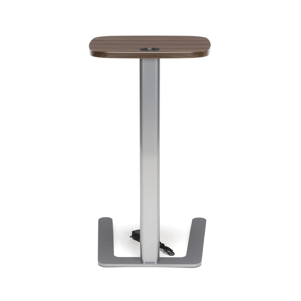 OFM Model ACCTAB Accent Table with USB Grommet, Walnut. Picture 3
