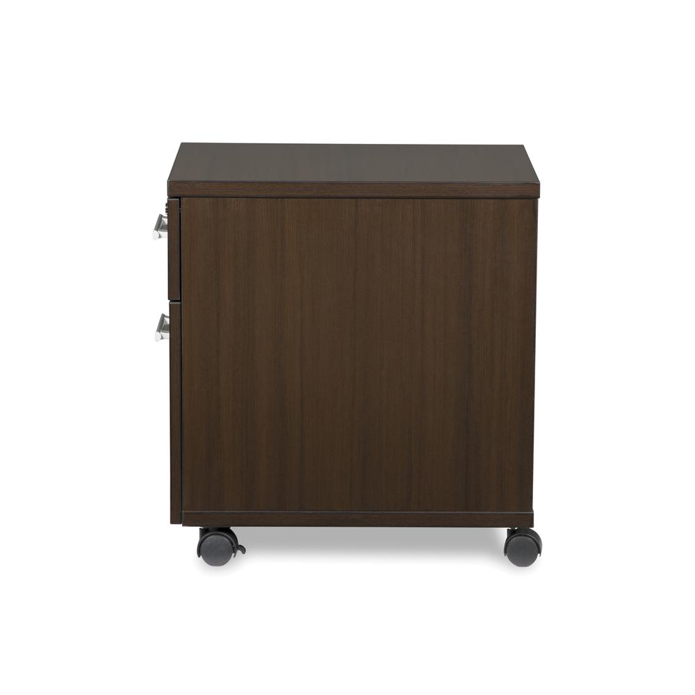 OFM Fulcrum Series Locking Pedestal, Mobile 2-Drawer Filing Cabinet, Espresso (CL-MBF-ESP). Picture 5