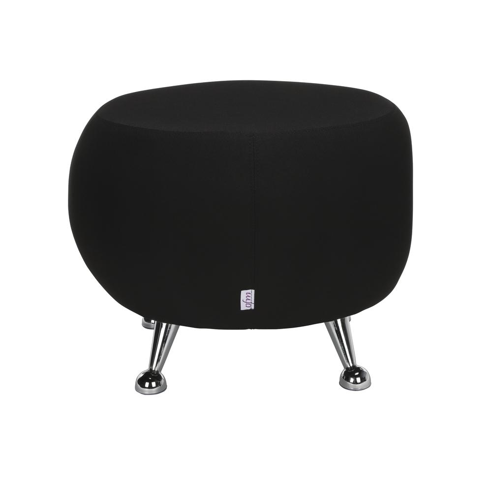 OFM Jupiter Series Fabric Ball Stool, in Black (2001-2327). Picture 3
