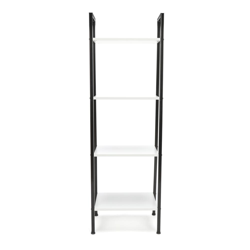OFM ESS-1045 4-Shelf Free Standing Ladder Bookshelf with Black Frame. Picture 3