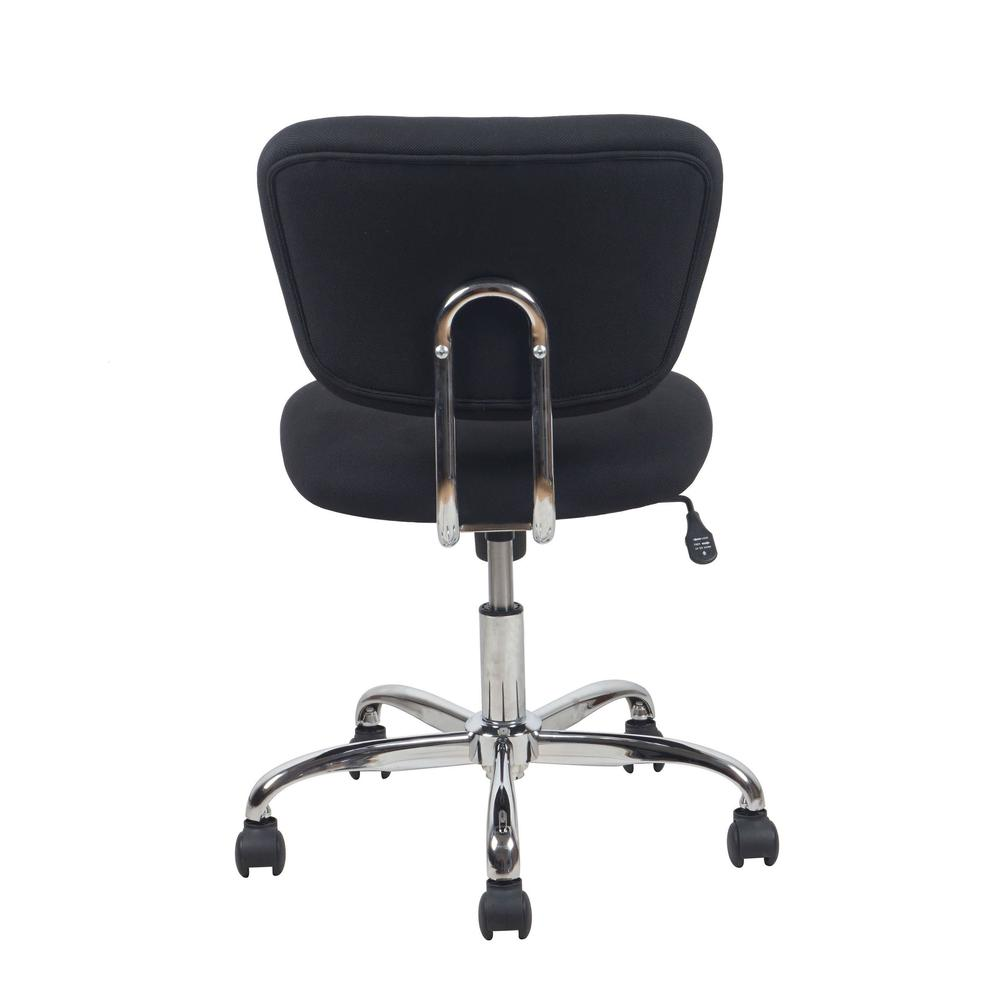Essentials by OFM ESS-3090 Swivel Armless Task Chair, Black with Chrome Finish. Picture 3