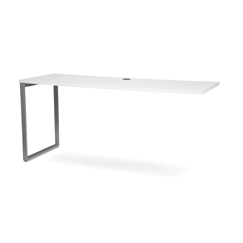 OFM Fulcrum Series 66x24 Credenza Desk, Desk Shell for Office, White (CL-C6624-WHT). Picture 6