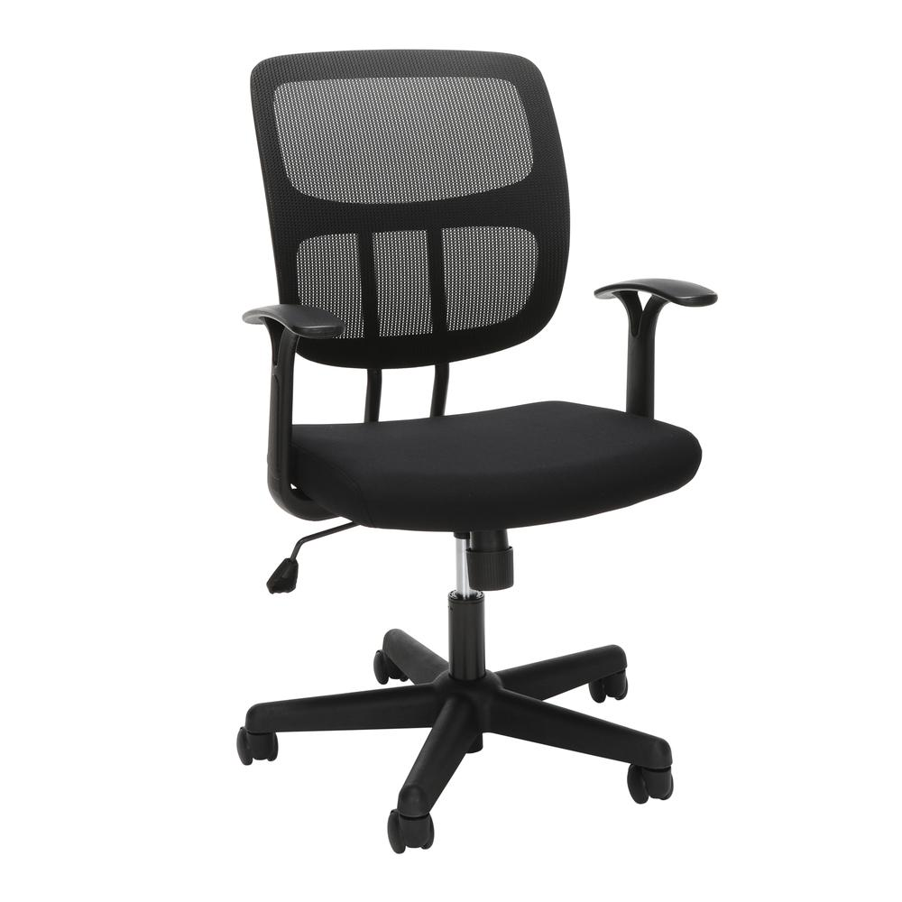 OFM Essentials Series Mesh Office Chair, in Black (ESS-3003). Picture 1