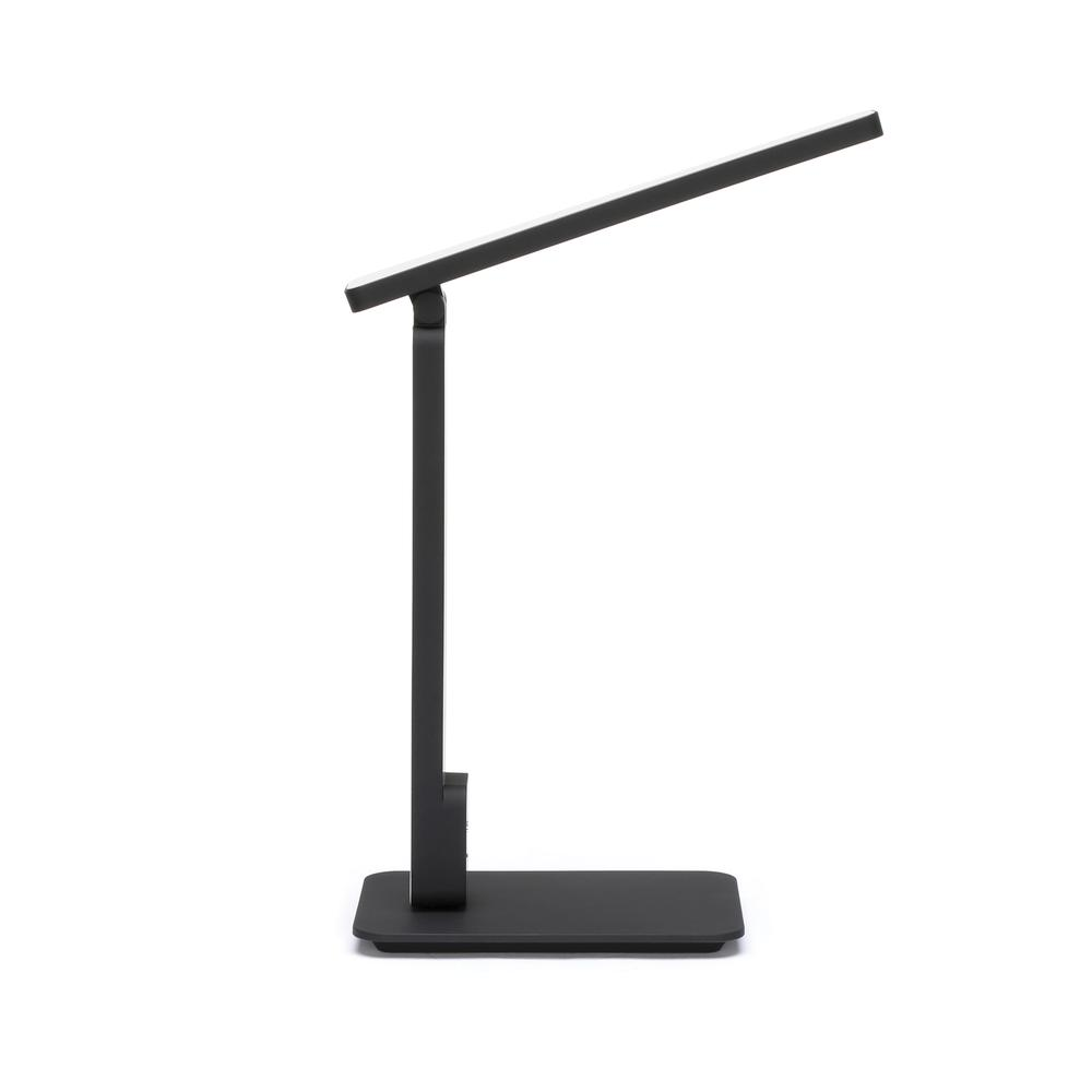 OFM 4025-BLK Industrial LED Desk Lamp with Touch Activated Switch and USB Charging Port, Black. Picture 4
