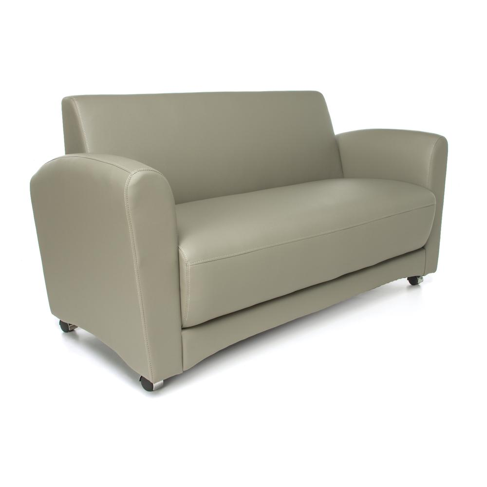 OFM InterPlay Series Model 822-NT Double Seating Sofa, Taupe. Picture 1