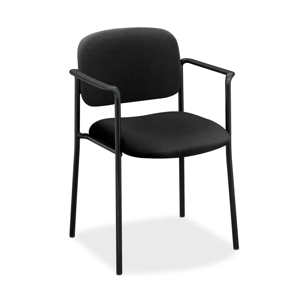 HON Scatter Guest Chair - Upholstered Stacking Chair with Arms, Office Furniture, Black (VL616). Picture 1