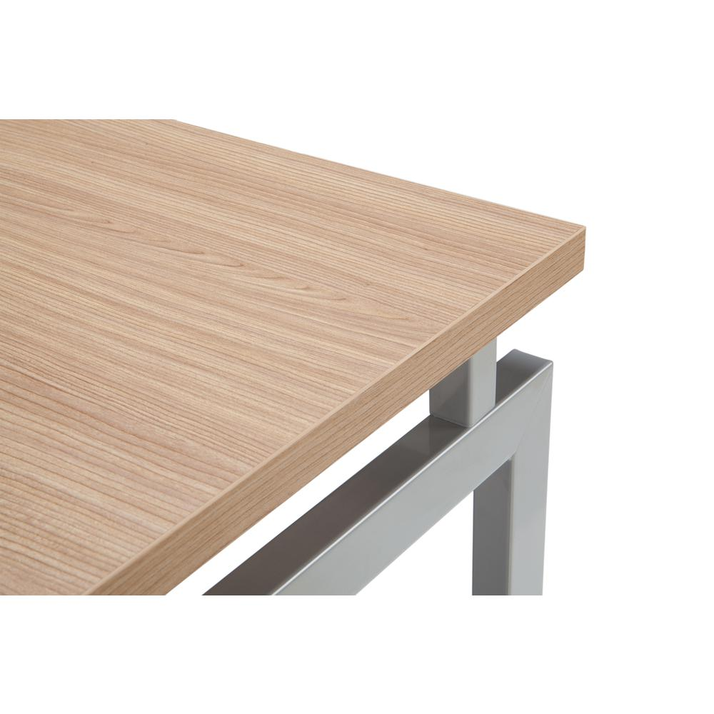Essentials by OFM ESS-1020 L Desk with Metal Legs, Harvest with Silver Frame. Picture 6
