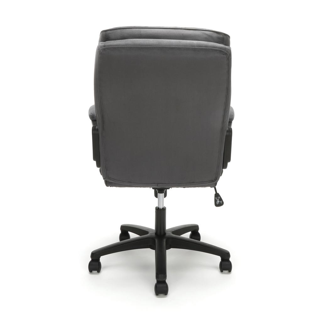 Essentials by OFM ESS-3082 Plush Microfiber Office Chair, Gray. Picture 3