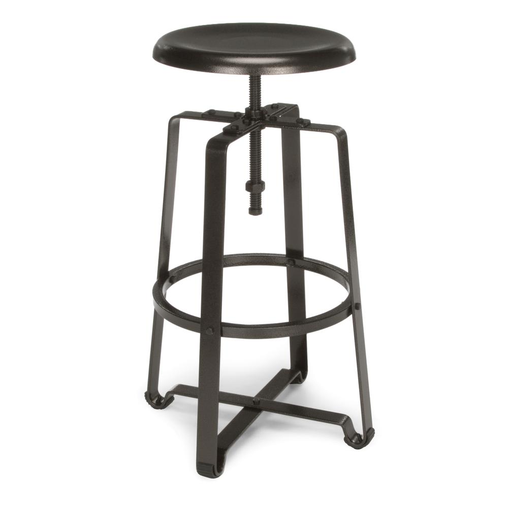 OFM Model 920 Tall Stool, Dark Vein Metal Seat , Frame. Picture 1