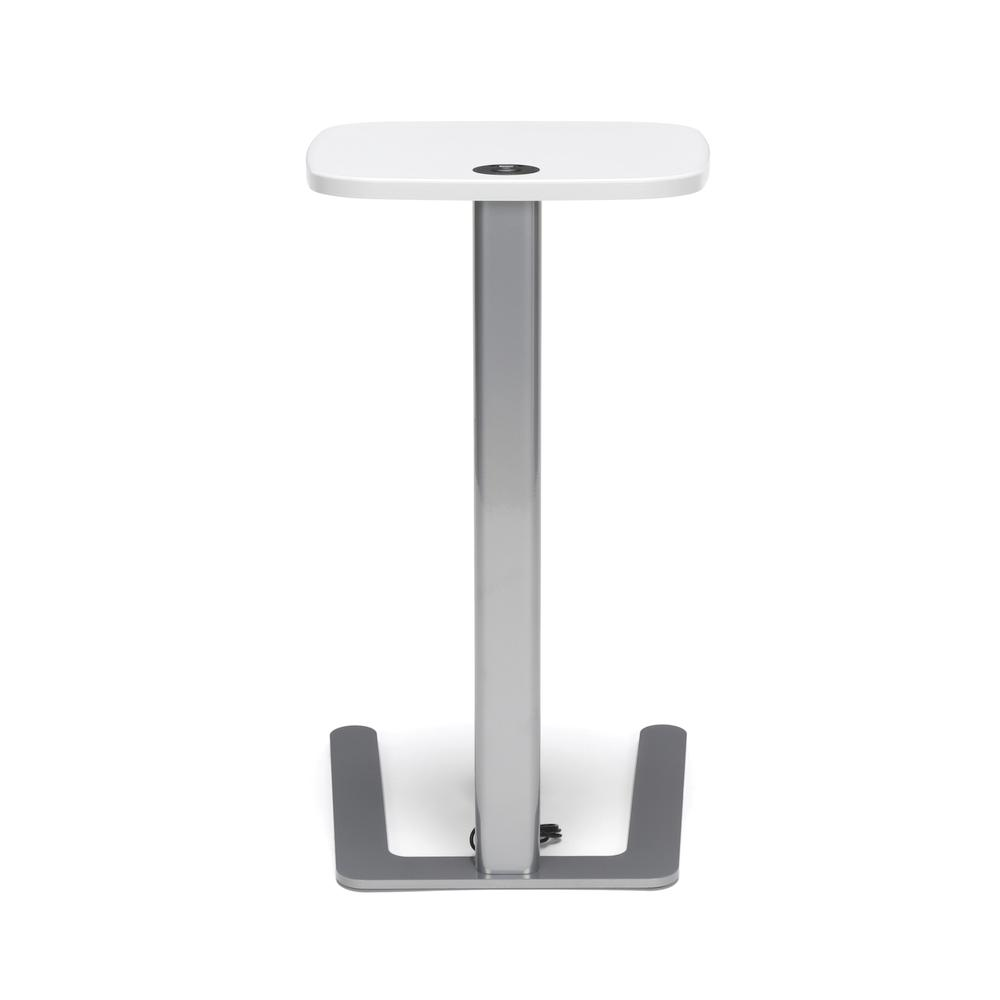 OFM Model ACCTAB Accent Table with USB Grommet, White. Picture 3