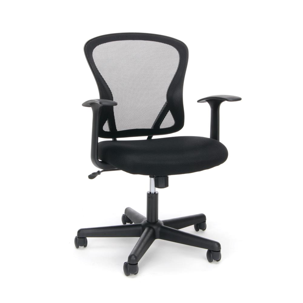 OFM ESS-3011 Swivel Mesh Back Task Chair with Arms, Mid Back. Picture 1