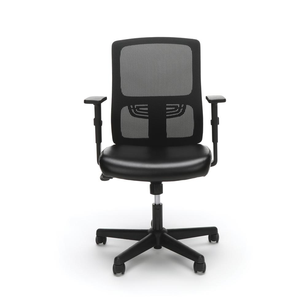 OFM ESS-3048 Mesh Back Chair with Bonded Leather Seat. Picture 2