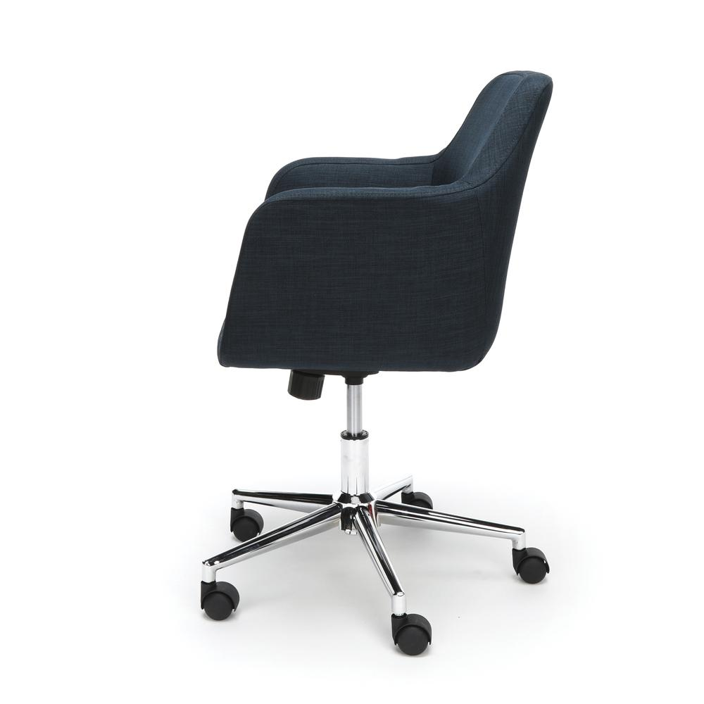 Essentials by OFM ESS-2085 Upholstered Home Office Desk Chair, Blue. Picture 5