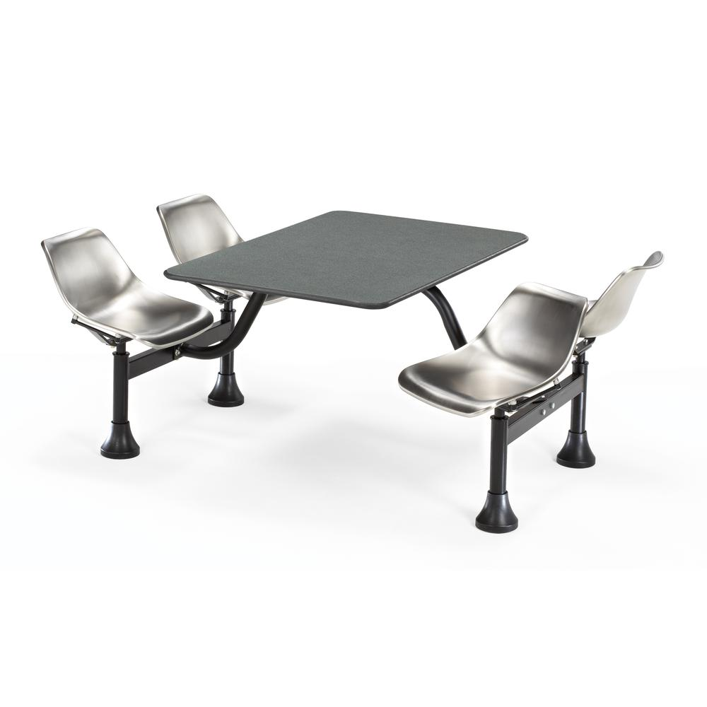 Top and 4 Seats, Grey Nebula with Stainless Steel. Picture 1