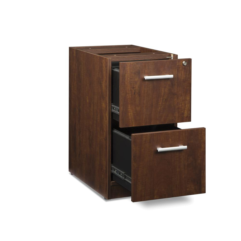 OFM Fulcrum Series Locking Pedestal, 2-Drawer Filing Cabinet, Cherry (CL-FF-CHY). Picture 6