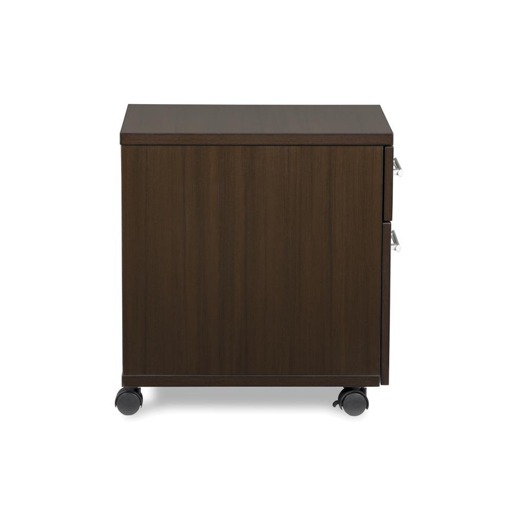 OFM Fulcrum Series Locking Pedestal, Mobile 2-Drawer Filing Cabinet, Espresso (CL-MBF-ESP). Picture 4