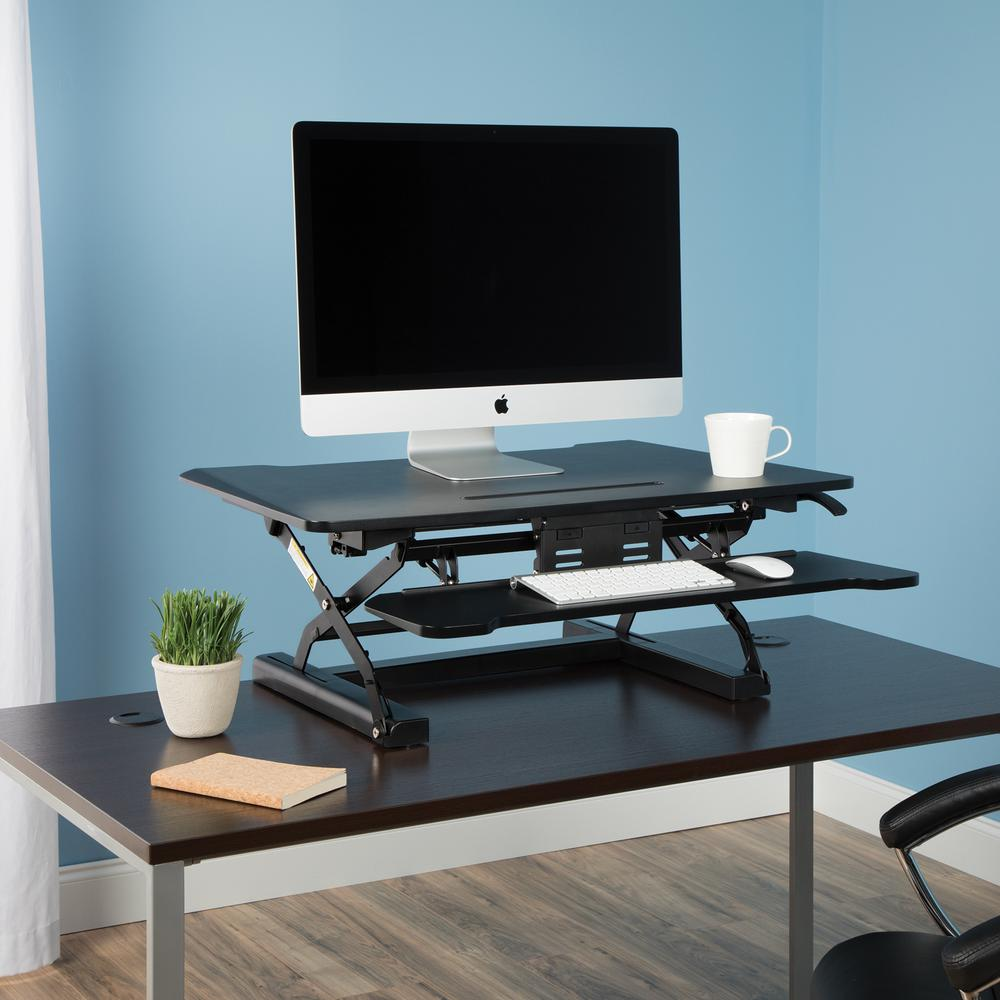 OFM Collection Adjustable Desktop Riser, Standing Desk Converter. Picture 7