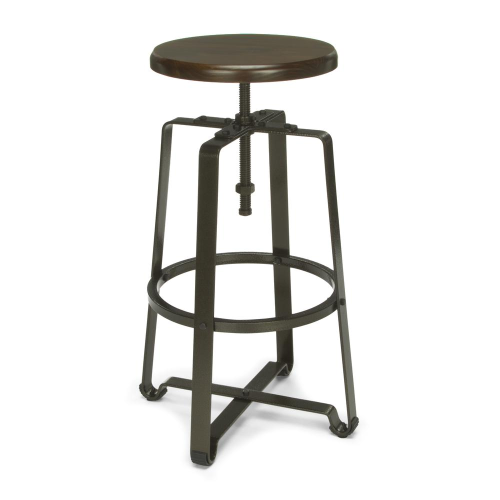 OFM Model 920 Tall Stool, Polyurethane, Walnut Wood. Picture 1