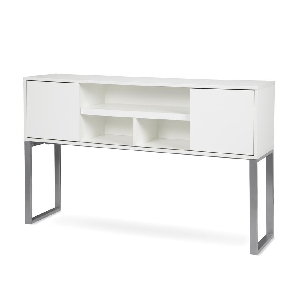 """OFM Fulcrum Series 60"""" Hutch with Doors, Office Cabinet for Storage, White (CL-H6015-WHT). Picture 6"""