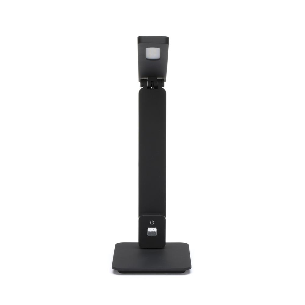 OFM 4025-BLK Industrial LED Desk Lamp with Touch Activated Switch and USB Charging Port, Black. Picture 2
