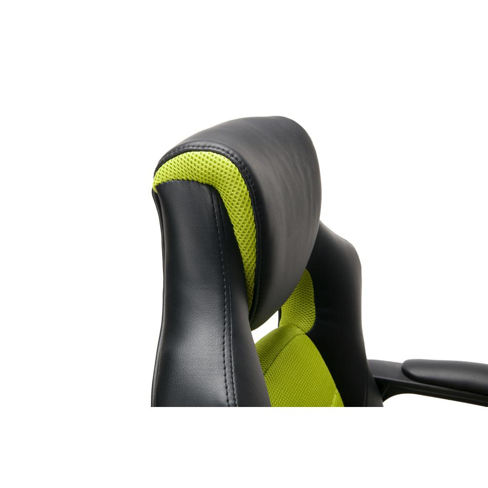 Essentials by OFM ESS-3083 Racing Style Gaming Chair, Green. Picture 6