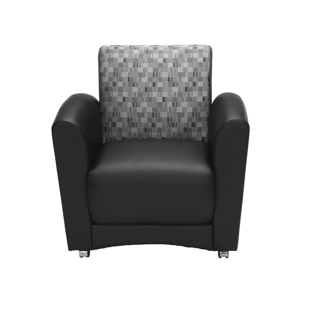 OFM InterPlay Series Single Seat Chair, in Nickel/Black (821-NCKL-PU606NT). Picture 2