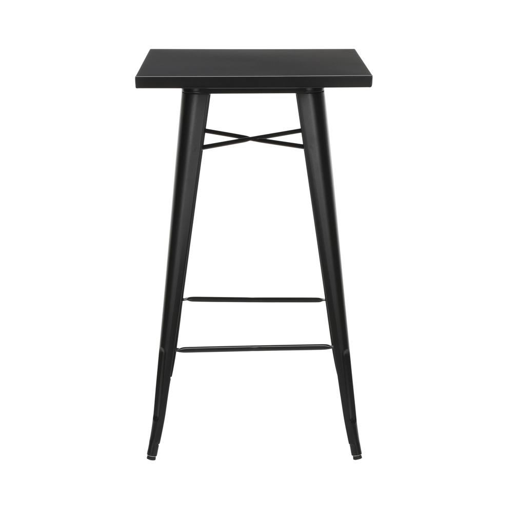 "The OFM 161 Collection Industrial Modern 24"" Square Bar Table with Footring is perfect for indoor or outdoor applications because its galvanized steel is coated in an anti-UV powder that helps prevent. Picture 2"
