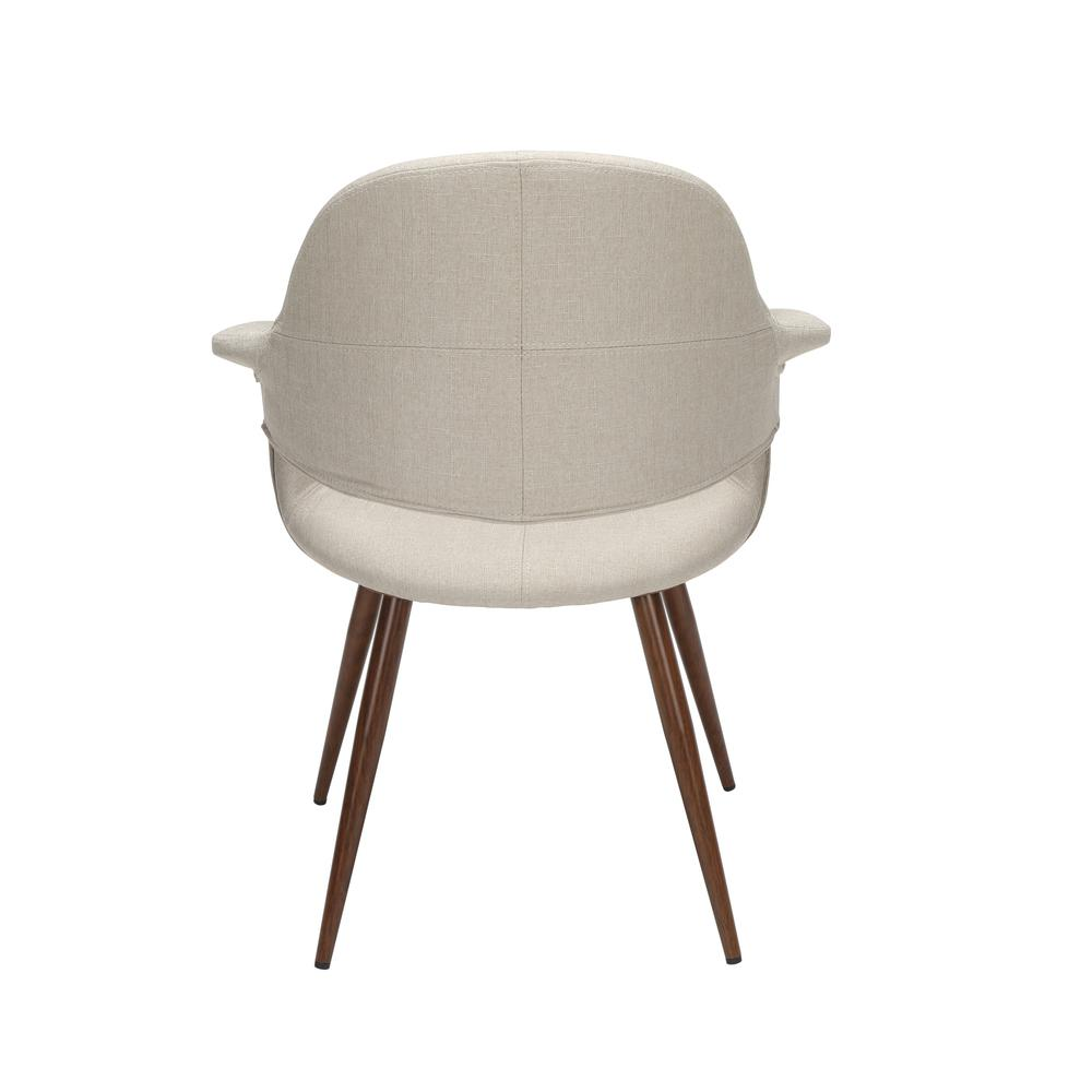 The OFM 161 Collection Mid Century Modern Fabric Accent Chair with Arms, 2 Pack, in Beige, is reminiscent of the original MCM chair. This quintessential mid century modern accent dining chair is sold. Picture 3