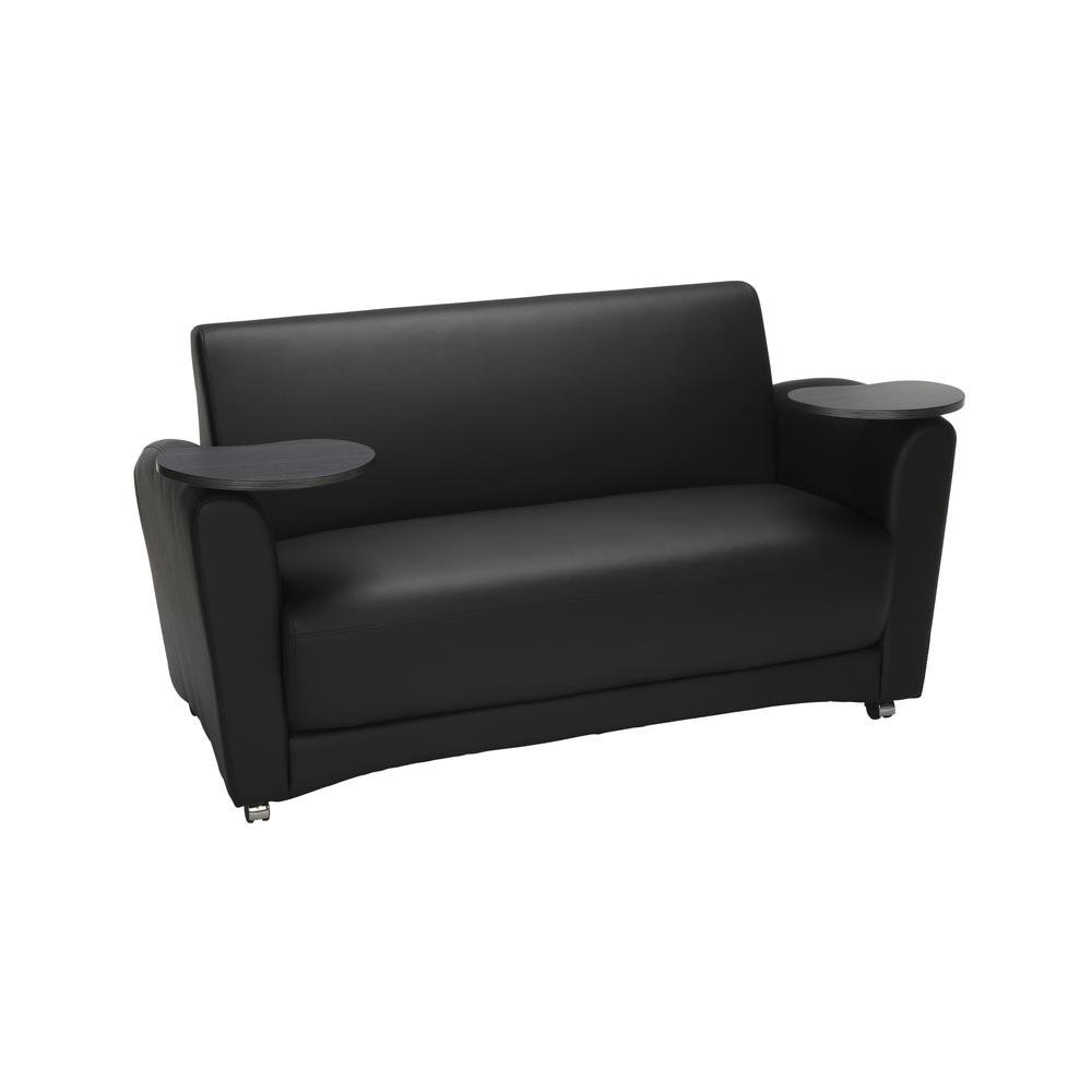 OFM  Soc Seating Sofa with Double Tungsten Tablets, (822-PU606-TNGST). Picture 1