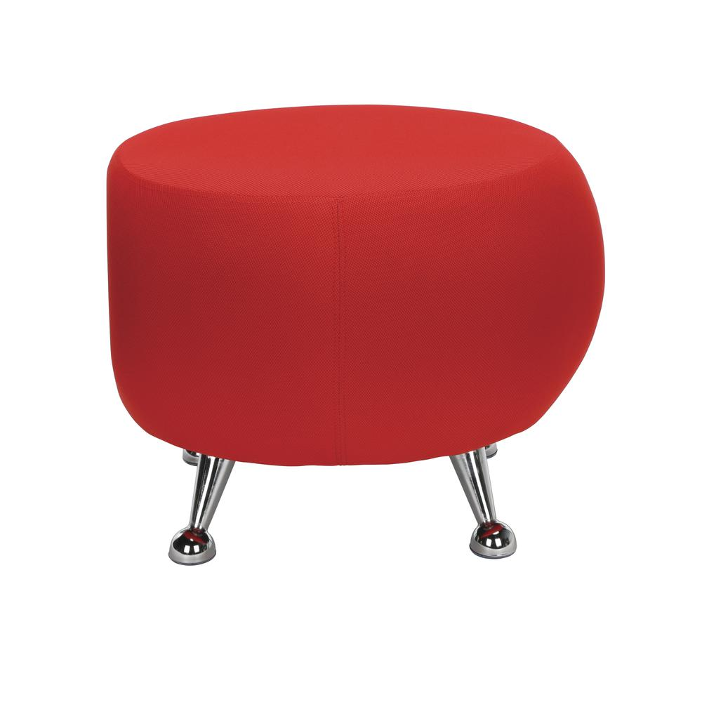 OFM Jupiter Series Fabric Ball Stool, in Red (2001-2312). Picture 2