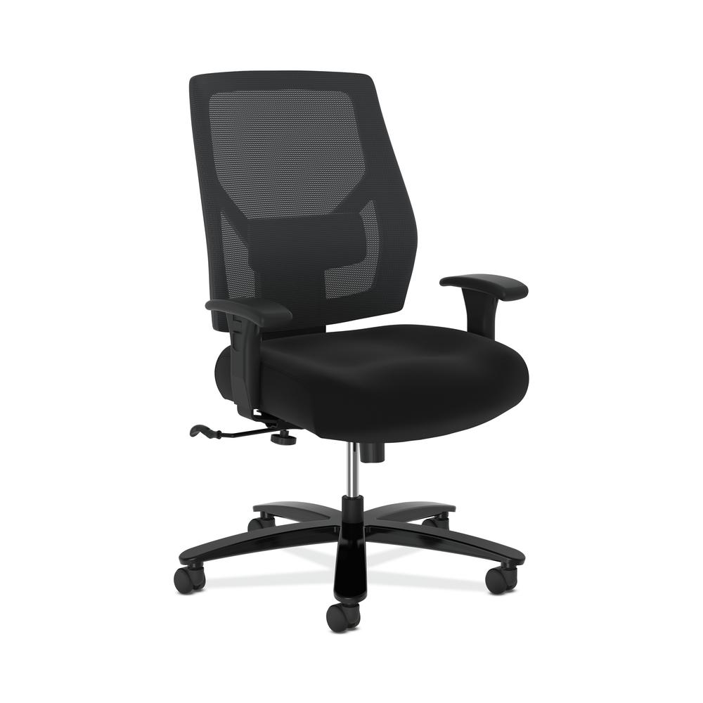 HON Crio High-Back Big and Tall Chair - Fabric Mesh Back Computer Chair for Office Desk, Black (HVL581). Picture 1