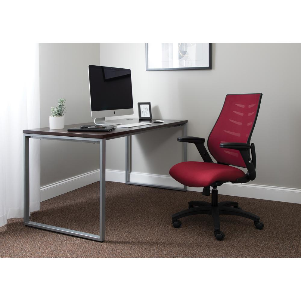 OFM Model 530-BURG Core Collection Midback Mesh Office Chair for Computer Desk, Burgundy. Picture 7