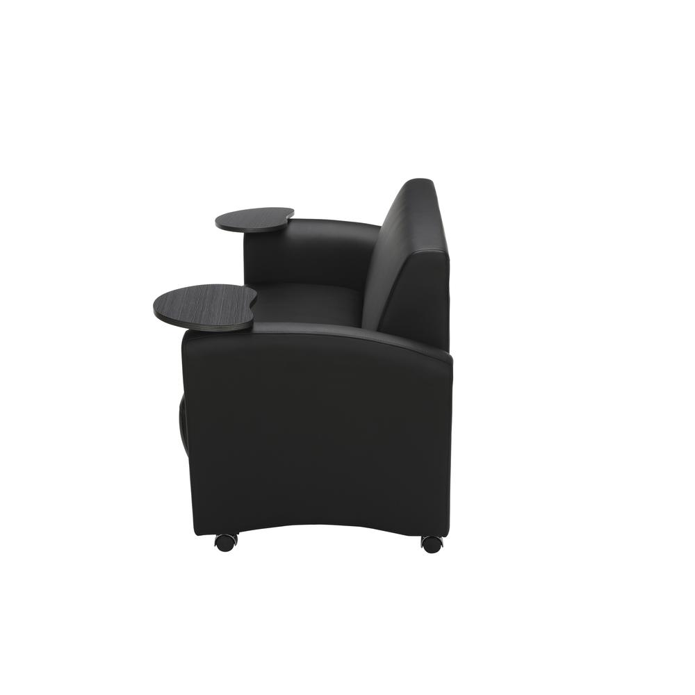 OFM  Soc Seating Sofa with Double Tungsten Tablets, (822-PU606-TNGST). Picture 5