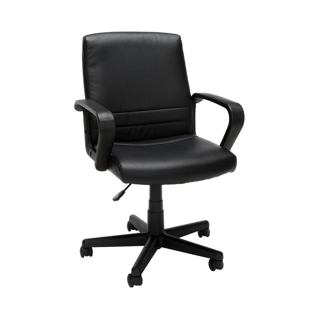 Essentials by OFM E1008 Mid Back Executive Chair, Black. Picture 1