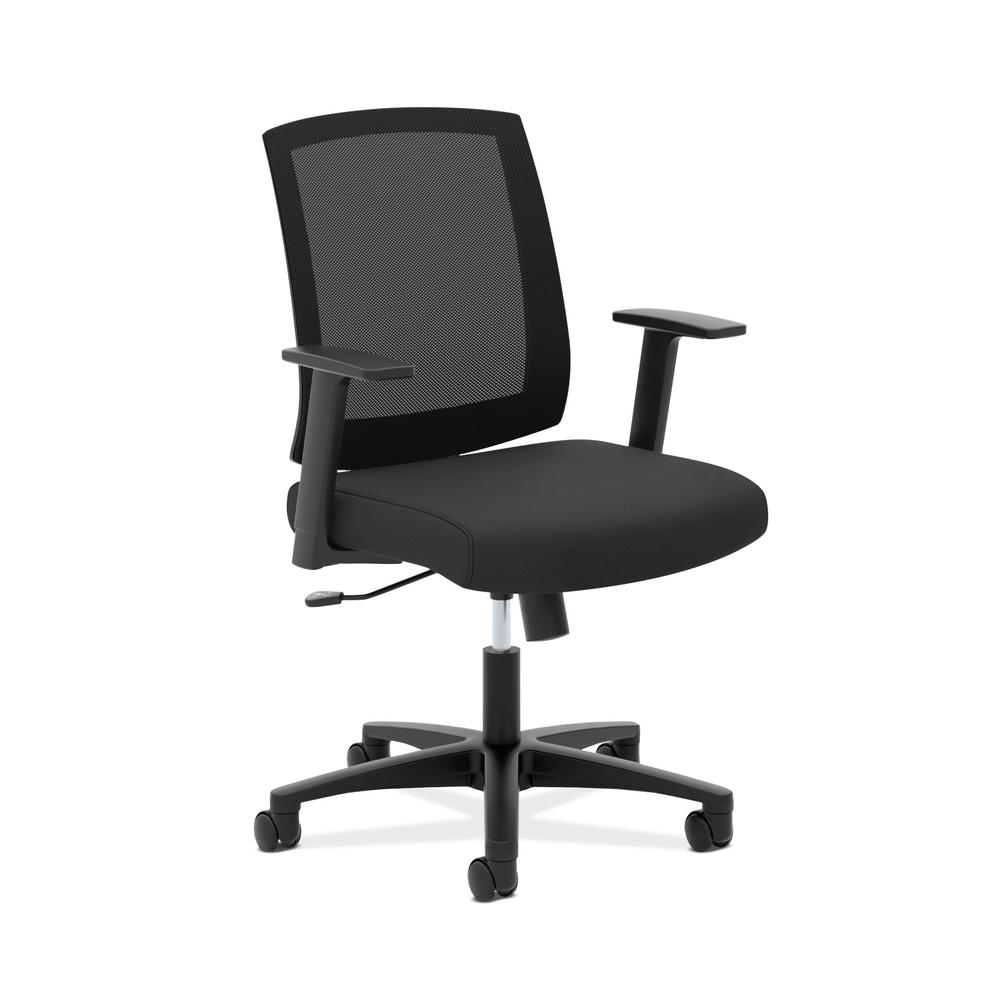 HON Torch Mesh Task Chair - Mid-Back Office Chair,  Black  (HVL511)