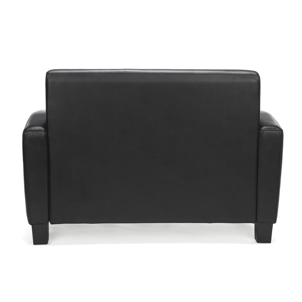 Essentials by OFM ESS-9051 Traditional Reception Loveseat, Black. Picture 3
