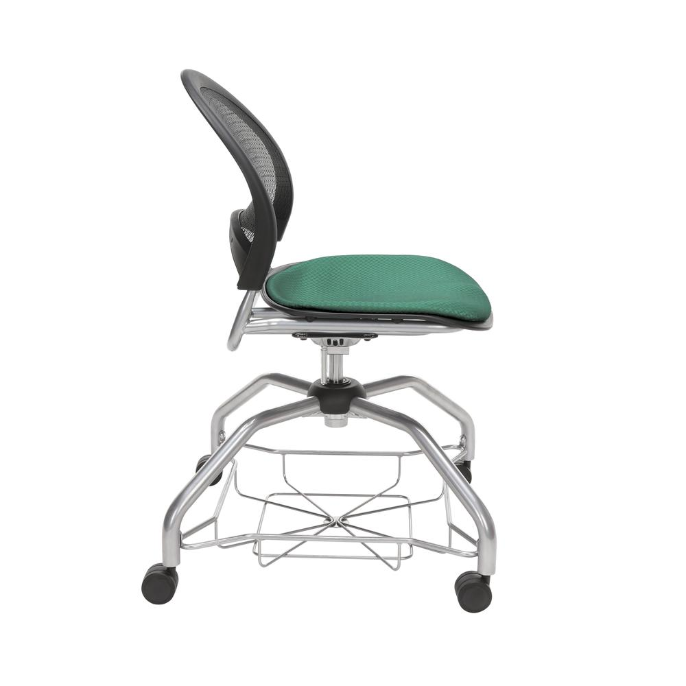 OFM Moon Foresee Series Chair with Removable Fabric Seat Cushion - Student Chair, Shamrock Green (339). Picture 4