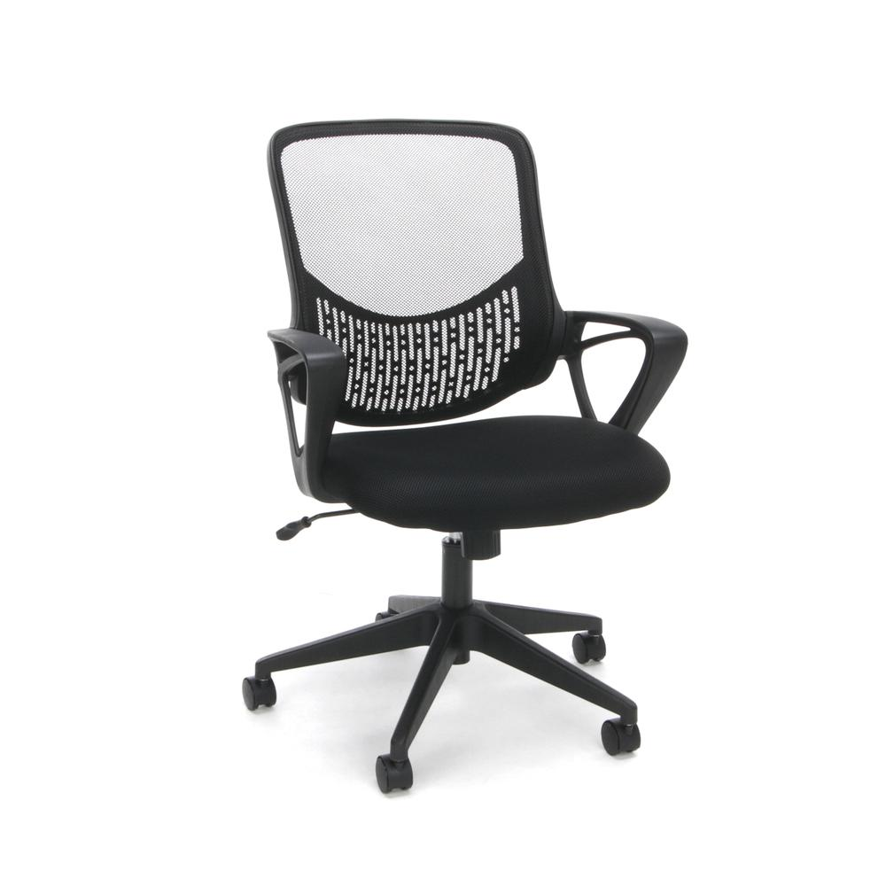 Essentials by OFM ESS-100 Mesh Back Task Chair, Black. Picture 1