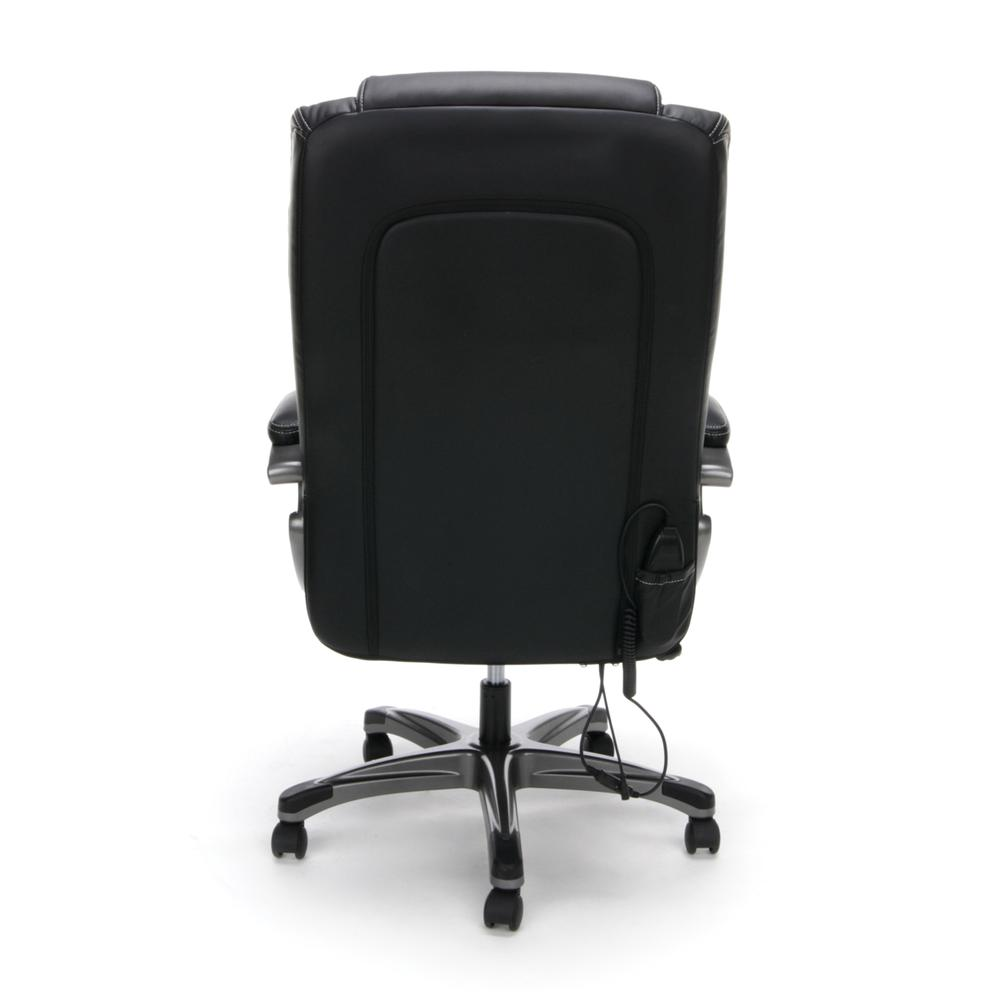OFM ESS-6035M Heated Shiatsu Massage Bonded Leather Chair. Picture 3