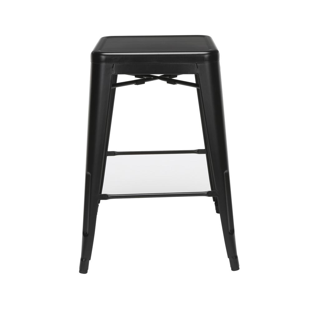 """The OFM 161 Collection Industrial Modern 26"""" Backless Metal Bar Stools, 4 Pack, require no assembly, are stackable, and provide a roomy 15 square inches of seating surface. These counter height stools. Picture 2"""