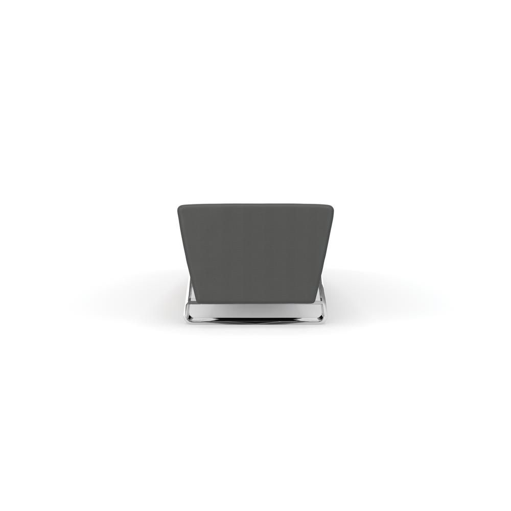 OFM Triple Seating Bench, Textured Vinyl with Chrome Base, in Slate. Picture 3