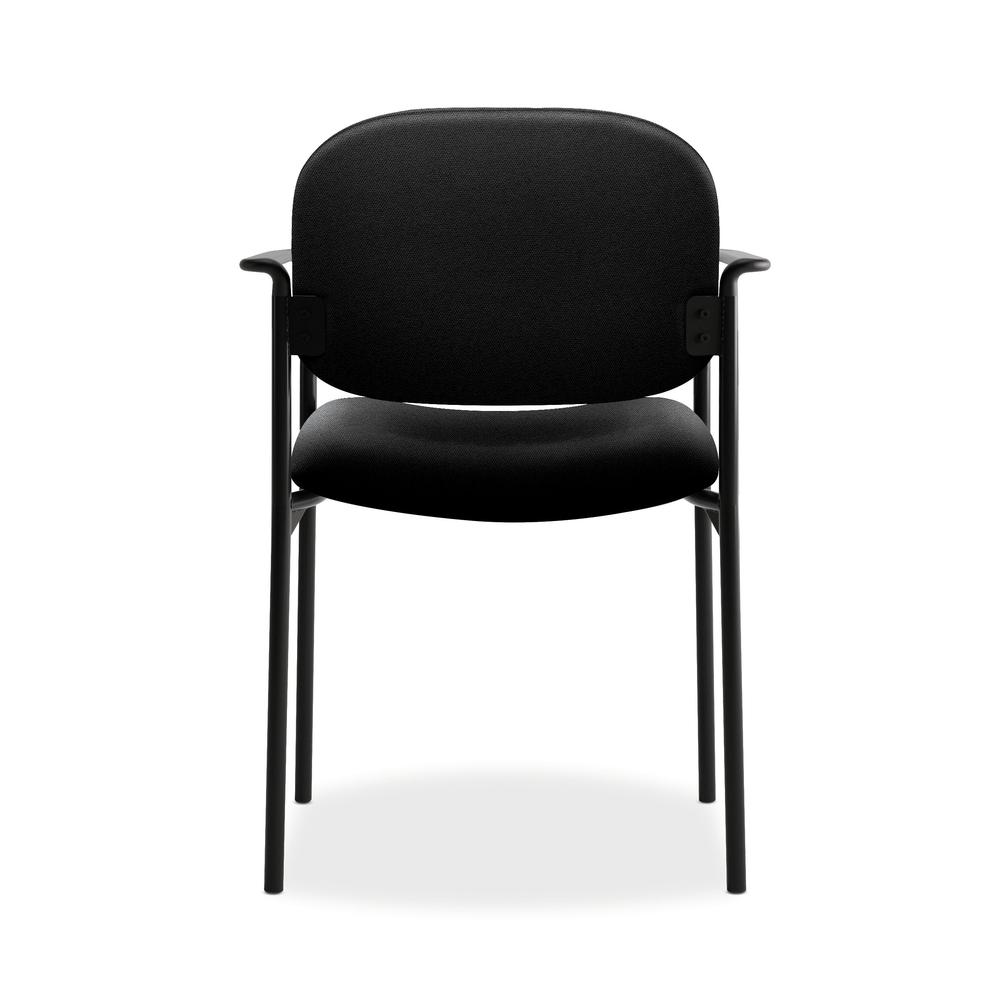 HON Scatter Guest Chair - Upholstered Stacking Chair with Arms, Office Furniture, Black (VL616). Picture 3