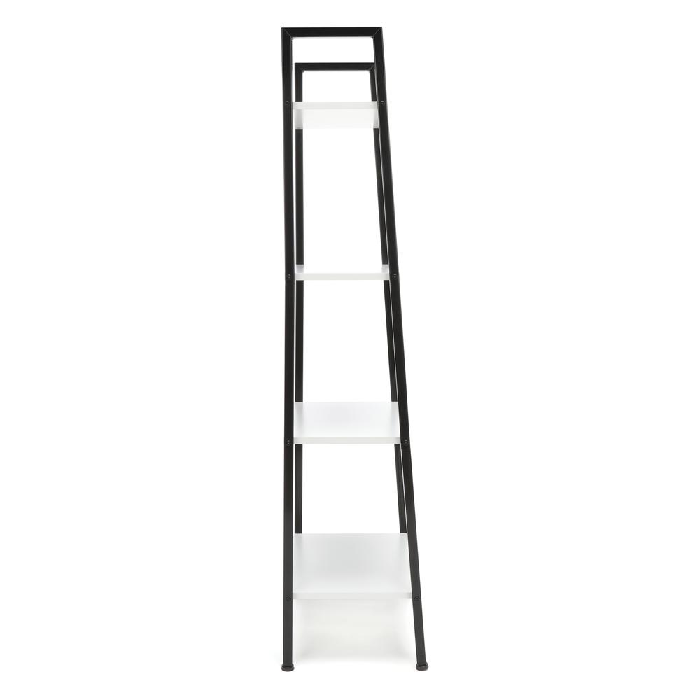 OFM ESS-1045 4-Shelf Free Standing Ladder Bookshelf with Black Frame. Picture 4